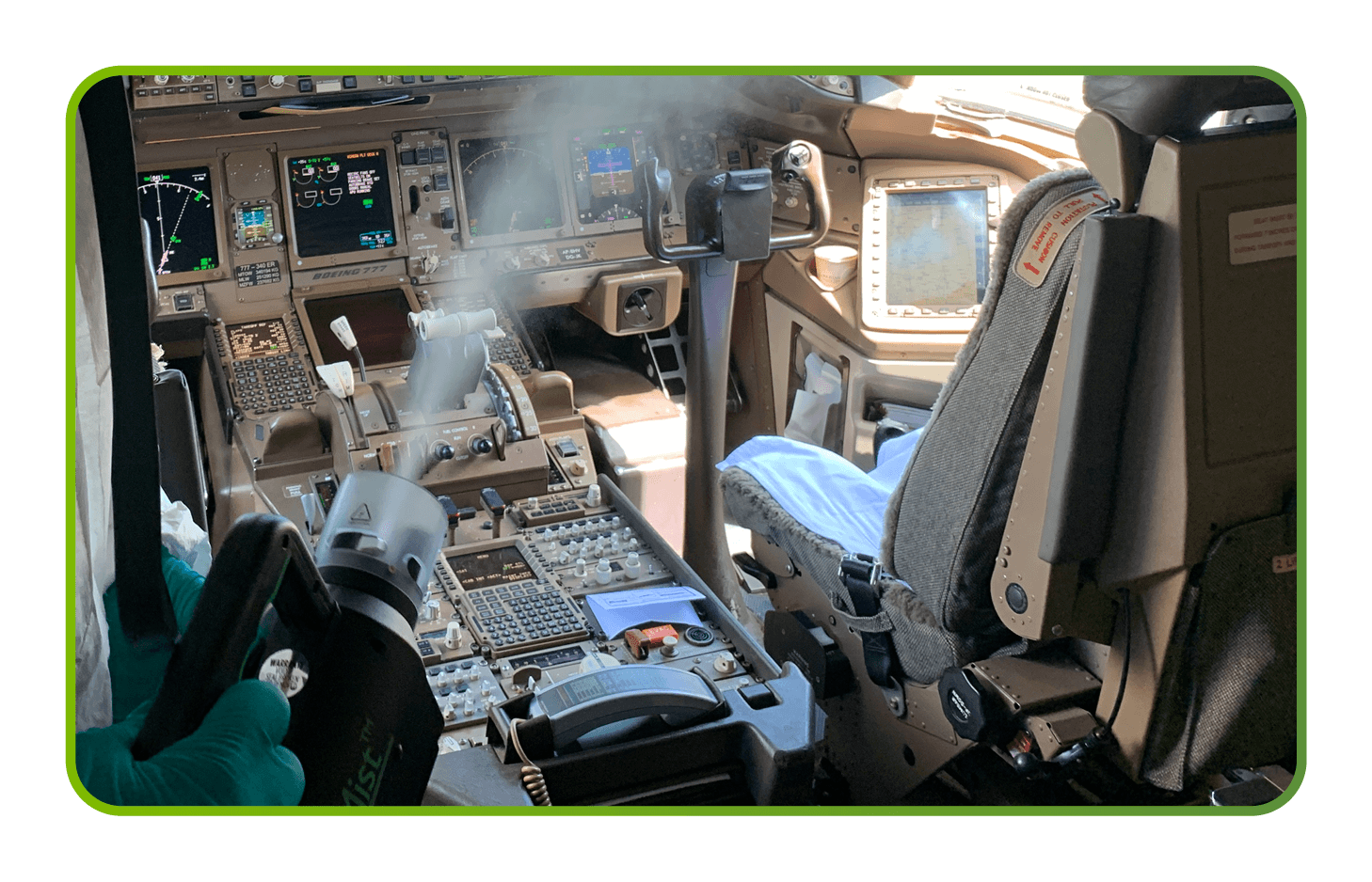 Disinfection of Airplane